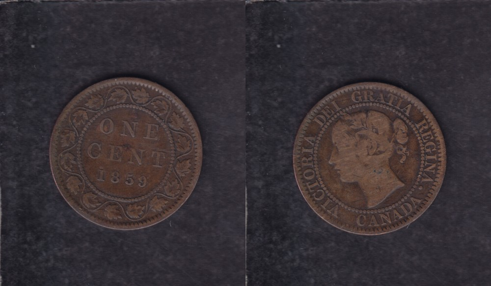 1859 CANADA 1 CENT COIN photo