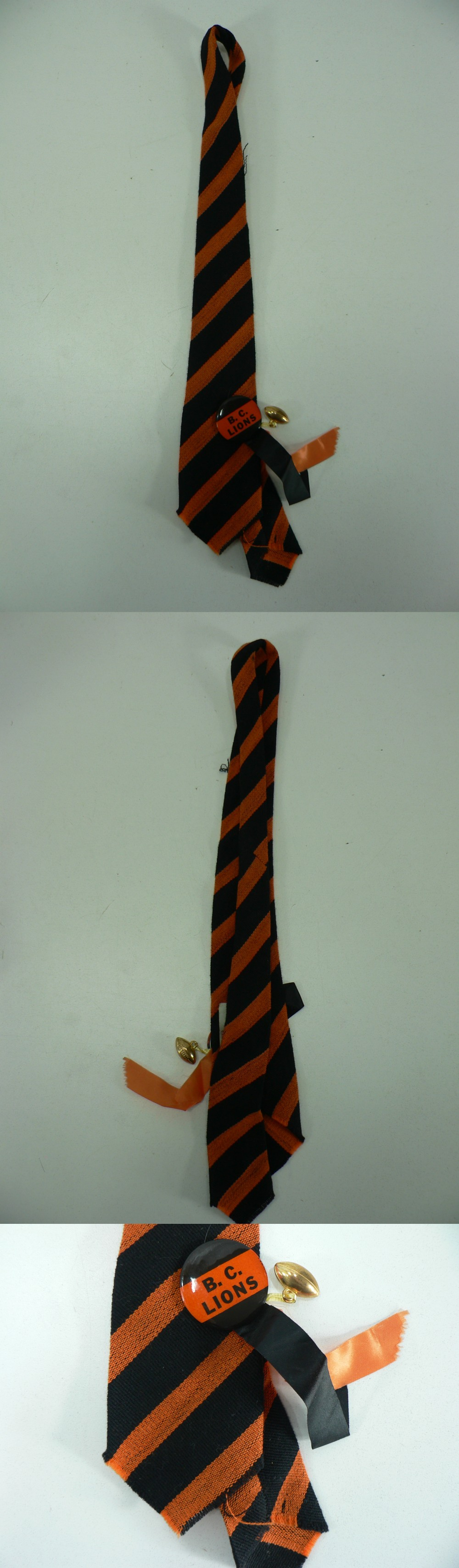 1950'S CFL B.C. LION TIE & RIBBON photo