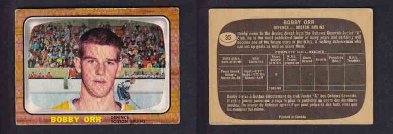 Cs24736771 1966 67 Topps Bobby Orr 35 Rookie Card