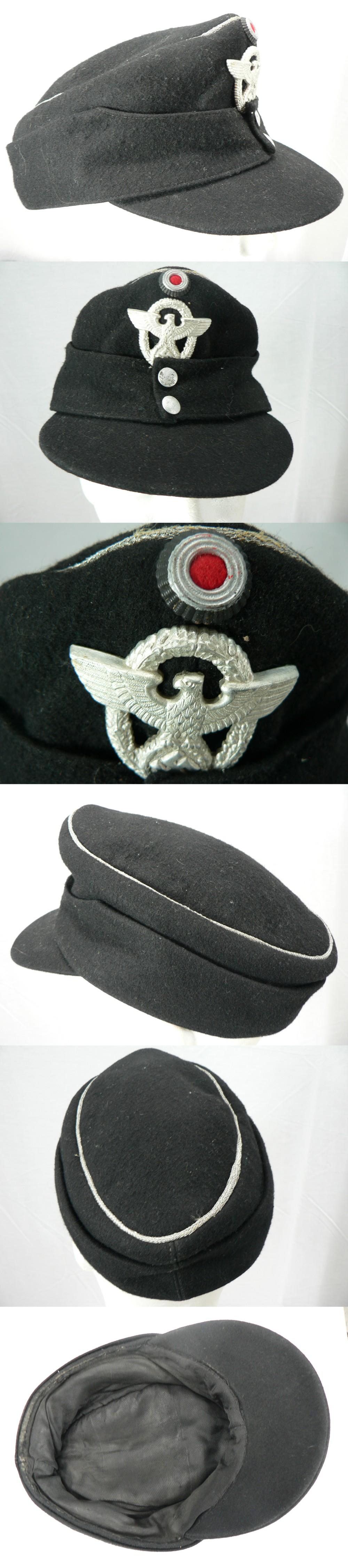 CS49843049 :: 1939-45 WWII GERMAN NAZI OFFICER POLICE CAP